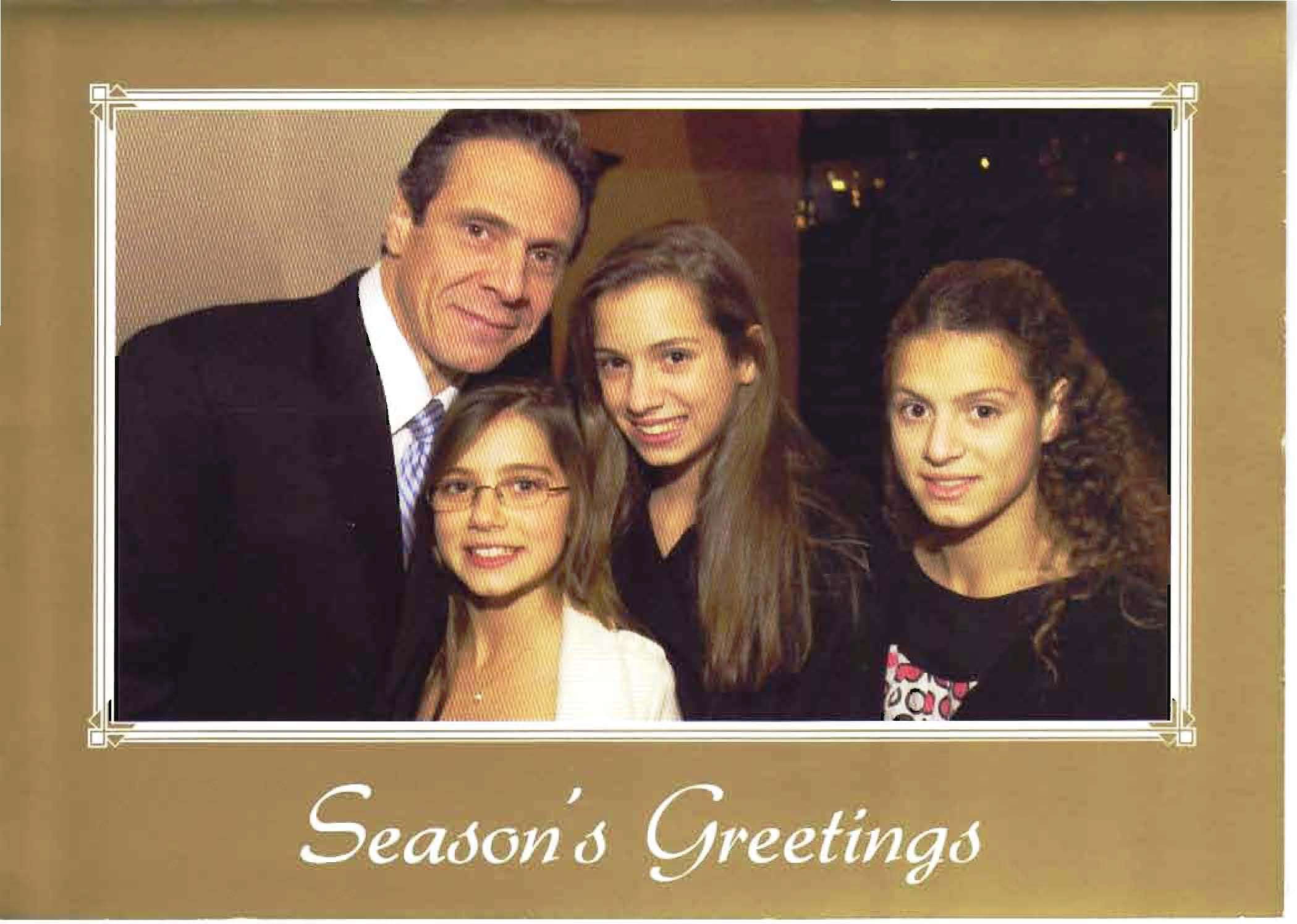 Holiday Greetings From The Cuomo Family