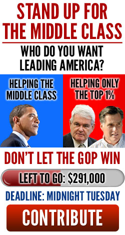 Stand up for the middle clas. Who do you want leading America? Don't let the GOP win. Left to go:291,000 Deadline: Midnight Tuesday. Contribute